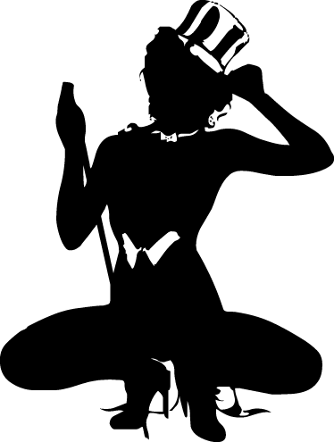 TenStickers. Yankee Stripper Sticker. From our collection of erotic wall stickers, a silhouette design of a stripper girl dressed in a Yankee style costume.