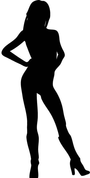 TenStickers. Sexy Lady Wall Decal. This wall sticker illustrates a sexy woman in a silhouette. Her high heels and attractive attitude will create a very attractive atmosphere.