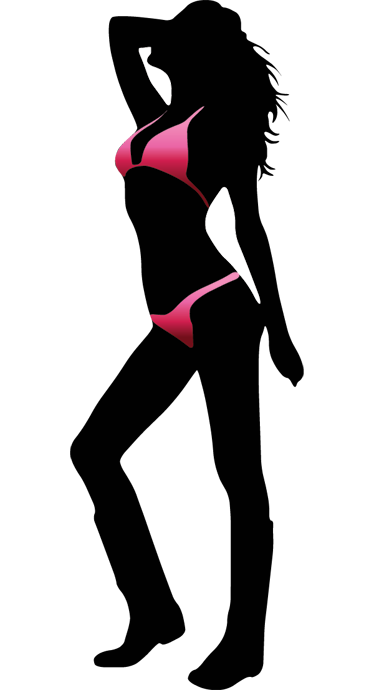 TenStickers. Sexy Women Posing In Bikini Silhouette. Sexy and Seductive wall sticker to decorate your room or bathroom! Colourful decal that all you men (but maybe women) would love!