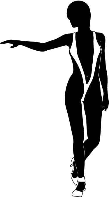 TenStickers. Woman in Trikini Erotic Decal. An erotic wall sticker illustrating a woman in a sexy trikini! This seductive silhouette decal is perfect to decorate your bedroom.