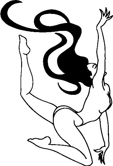 TenStickers. 裸体杂技女人墙贴. 从我们收集的色情墙贴中获得的一个裸体女人的设计,她的长长的头发在她身后流动,摆出性感而杂技的姿势。