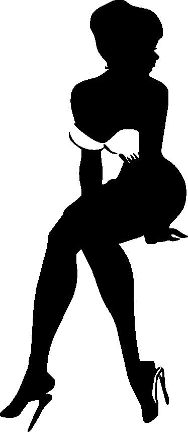 TenStickers. Sexy Muursticker Silhouet Vrouw. Versier je slaapkamer met deze erotische muursticker een sexy Silhoulette van een vrouw met provocerende pose voor meer plezier in de slaapkamer.