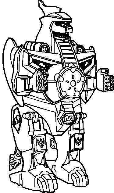TenStickers. 드래곤 조드 파워 레인저 어린이 스티커. 유명한 시리즈 인 파워 레인저의 강력한 파워를 갖춘 멋진 로봇. 이 dragonzord 디자인은 로봇 벽 스티커 컬렉션에 있습니다.