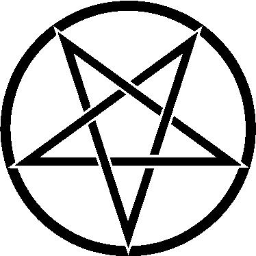 TenStickers. 魔鬼之星贴纸. 如果您喜欢魔鬼和恶魔的仪式,那么地狱世界的这种经典表现对您来说是完美的。
