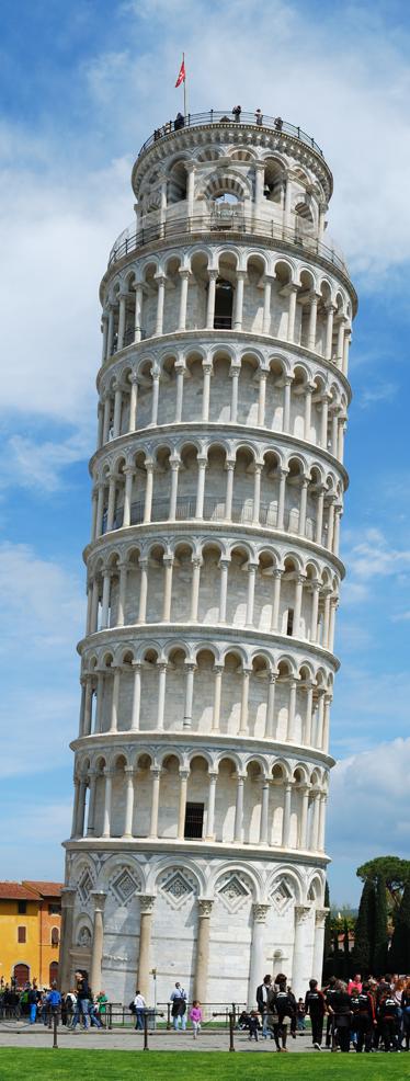 TenStickers. Sticker decorativo panorama Pisa. Adesivo decorativo che raffigura la famosa torre pendente di Pisa in tutta la sua eleganza per personalizzare il tuo frigo.