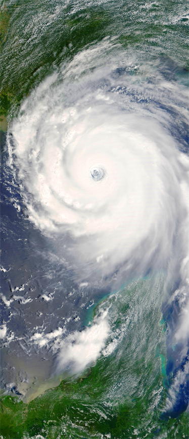 TenStickers. Nalepka orkanskih satelitov za orkan. Hladilne nalepke - posnetek orkana iz prostora, ki je idealen za personalizacijo hladilnika. Lastnost za ustvarjanje značilnega videza.