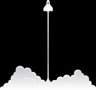 TenStickers. Sticker kind raket opstijgen. Deze muursticker omtrent een opstijgende raket met een verwoestende hoeveelheid rook achter zich. Ideaal voor kinderen!