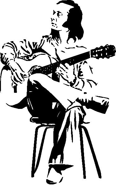 TenStickers. Paco de lucia stenski dekor. Glasbena stenska nalepka, ki ponazarja slavnega španskega kitarista, paco de lucia. Idealna dekoracija za oboževalce flamenka. Izberite velikost.