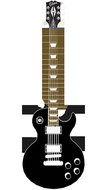 TenStickers. Sticker muziek Gibson Les Paul. Een leuke muursticker voor de gitaristen onder ons! Gebruik deze sticker van een Gibson Les Paul als wanddecoratie in je woning!