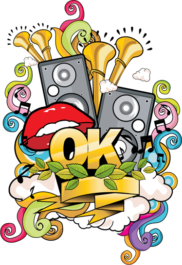 TenStickers. Musical Graffiti Wall Sticker. A magnificent and colourful musical design from our collection of graffiti wall stickers to give your home a fantastic appearance.
