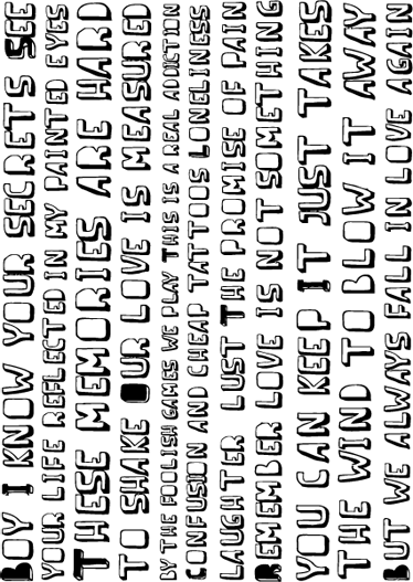 TenStickers. Quote unfinished business sticker. Een mooie muursticker met een geweldige quote  van het muziek nummer ¨Unfinished business¨ van de zanger Boy George.