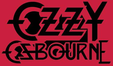 TenVinilo. Adhesivo decorativo logo Ozzy Osbourne. Adhesivo con el emblema tipográfico de este carismático cantante heavy líder de Black Sabbath.
