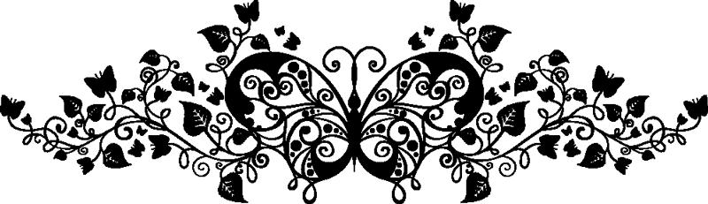 TenVinilo. Vinilo decorativo planta mariposa. Detalladísimo y complicado dibujo adhesivo con el que podrás darle un aire barroco a tu hogar.