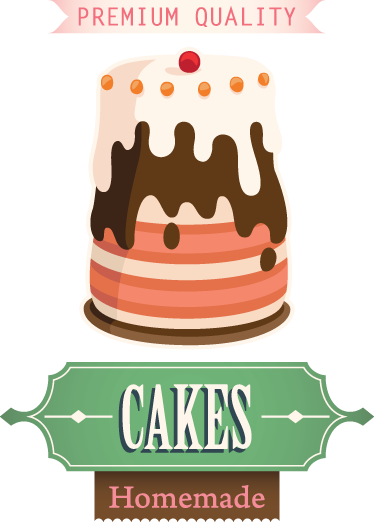 TenStickers. Sticker decorativo reclam torte. I dolci fatti in casa sono sempre i migliori! Un adesivo murale che celebra la genuina bontà della cucina casalinga.