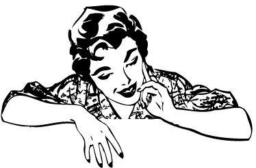 TenStickers. Woman Retro Decal. An elegant illustration of a woman from the 80s. This monochrome decal from our collection of retro wall stickers is ideal to decorate your home!