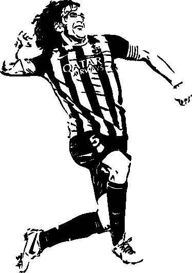 TenStickers. Carles puyol nogomet decal. Oblikovanje stenskih nalepk za nogometne igralce okrasnih carles puyol. Lepo nogometno športno dekoracijo na kateri koli ravni površini. Na voljo v poljubni velikosti.