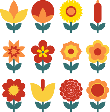 Sticker Collection Dessins Fleurs Tenstickers