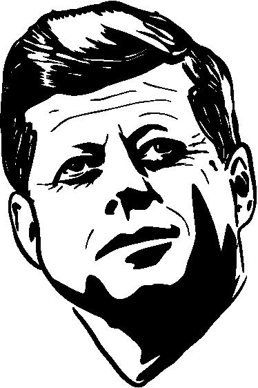 TENSTICKERS. ケネディの肖像ステッカー. 60年代にダラスで暗殺されたジョン・f・ケネディ大統領の詳細な肖像ステッカー。