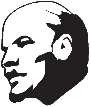 TenVinilo. Vinilo decorativo retrato Lenin. Reconocida representación en adhesivo del famoso líder revolucionario ruso.