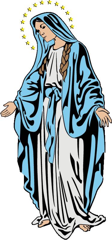 Vinilo Decorativo Virgen María En Color Tenvinilo