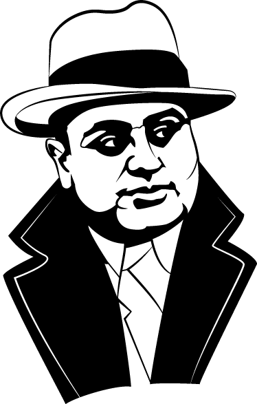 TenStickers. Al Capone Portrait Sticker. If you are interested in the American Mafia of the early twentieth century, then this is an ideal sticker for you.