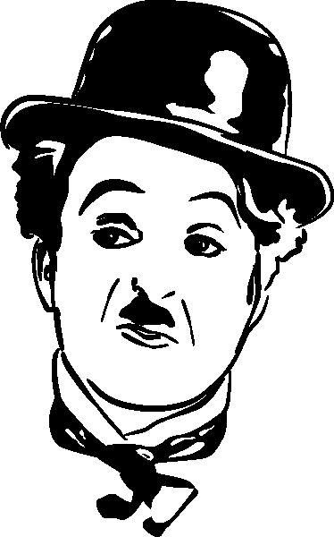TenVinilo. Vinilo decorativo cara de Chaplin. Divertido retrato en adhesivo de este icono del cine mudo de principios del siglo XX.