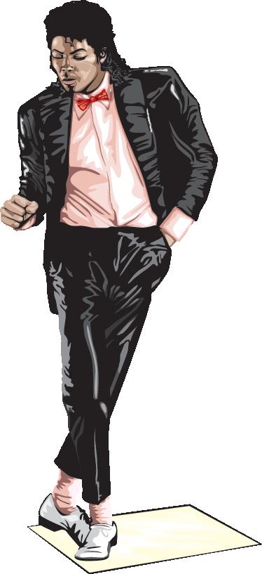 TenStickers. Sticker MJ Billie Jean. Een muursticker gebaseerd op de bekende scène uit de videoclip van Michael Jackson uit zijn bekendste album: Thriller.