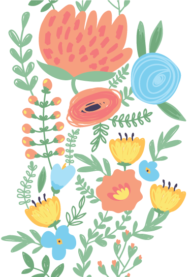 TenStickers. Sticker porte florale pastel. Un sticker mural d'inspiration florale aux couleurs pastel pour la décoration de toutes vos portes. Livraison Très Rapide.