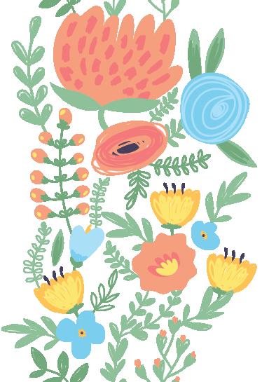 TENSTICKERS. 花のドアデカール. 自然に触発された詳細な花のイラスト。あなたのドアを飾るためのポピーの壁ステッカーのコレクションからの素晴らしいデザイン!