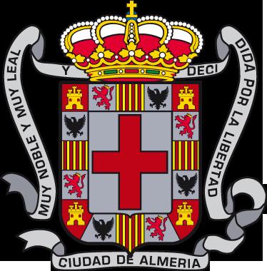 TenVinilo. Vinilo decorativo escudo Almería. Adhesivo con el emblema característico de esta ciudad andaluza, de nuestra amplia colección de vinilos decorativos.