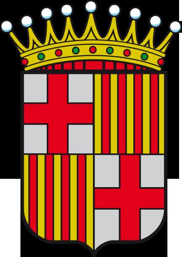 TenVinilo. Vinilo decorativo escudo Barcelona. Adhesivo a todo color con el emblema característico de la ciudad condal, de nuestra amplia colección de vinilos decorativos.