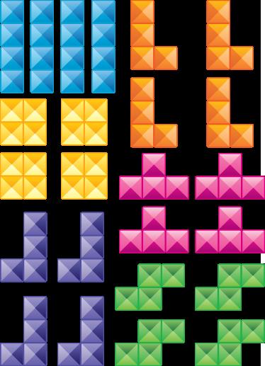 TenStickers. Vinil decorativo peças de tetris. Decore as paredes da sua divisão com este vinil decorativo original com um dos jogos mais famosos de sempre, Tétris.