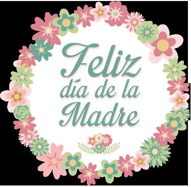 TenVinilo. Vinilo decorativo corona día madre. Elegante etiqueta adhesiva con el que podrás conmemorar esta festividad de principios de mayo.