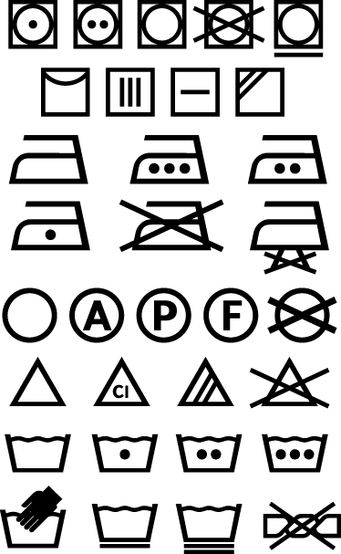 washing machine icons sign stickers tenstickers