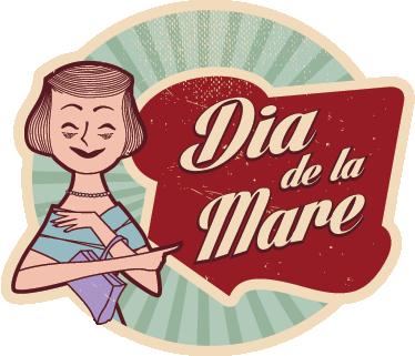 TenVinilo. Adhesivo retro dia de la mare. Divertida pegatina con texto en catalán para celebrar el primer domingo de mayo.