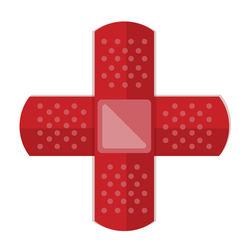 TenStickers. First Aid Sign Sticker. A superb icon wall sticker illustrating a first aid sign! Make sure you make everyone aware where the nearest first aid kit is located.