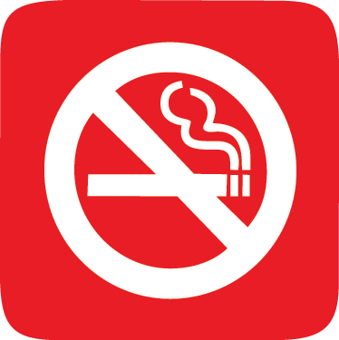 TenStickers. Smoking Forbidden Sign Sticker. An icon wall sticker illustrating a red sign indicating that a specific area within the premises is a non-smoking area.