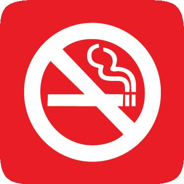 TenStickers. 吸烟禁止标志贴纸. 一个图标墙贴,说明一个红色标志,表明该处所内的特定区域是一个非吸烟区。