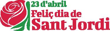 TenVinilo. Adhesivo decorativo 23 Sant Jordi. Decora tu negocio o el lugar que desees con este vinilo que conmemora una fiesta con mucho arraigo en Catalunya.