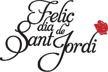 TenVinilo. Vinilo decorativo caligrafía Sant Jordi. Original diseño en adhesivo de tenvinilo.com. Escoge el color que quieras para el texto.