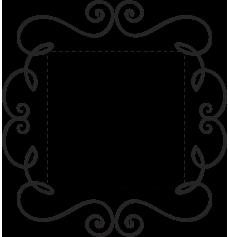 Ornament Switch Frame Wall Sticker - TenStickers