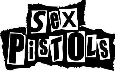 TenStickers. Sex Pistols Logo Sticker. Logo sticker in monochrome of the famous emblem of the British punk band!