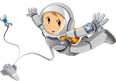 TenStickers. Exploring Space Kids Sticker. A fantastic space wall sticker illustrating a happy astronaut exploring the mysteries of space. If your children love rockets and love the different planets and stars in our space then this is the right decal to make their play time even more fun!
