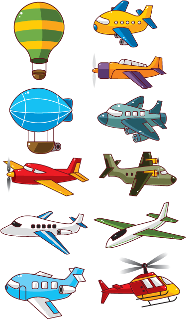 TenStickers. Planes Kids Stickers. A lovely collection of airplane wall stickers to decorate your kid's bedroom. Great kids decal to create a fun atmosphere in which your children can play. This vibrant collection of kids stickers includes some planes, helicopters, a blimp and a hot air balloon!