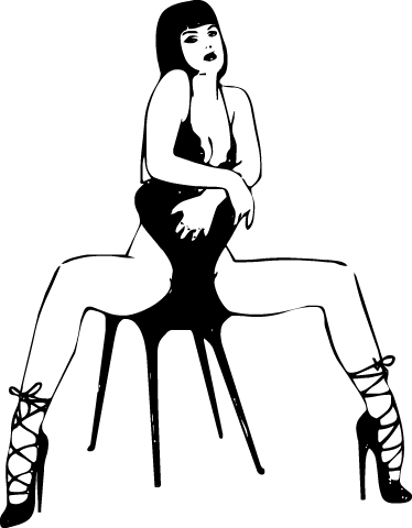 TenStickers. Stripper on Chair Sticker. Do you dare to put this mono-colour sticker of a sensual girl in your house?