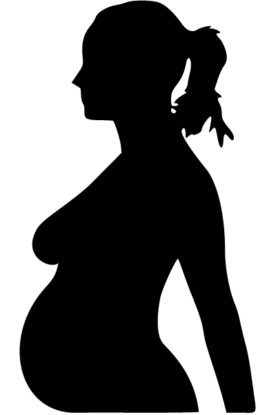 TenStickers. Pregnant Lady Silhouette Wall Sticker. Wall Stickers-Silhouette outline illustration of a pregnant woman. Beautiful feature that brings warmth, tenderness and positive energy to a room.