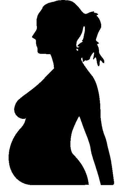 TenVinilo. Vinilo decorativo silueta embarazada. Bonito perfil en adhesivo monocolor de una futura madre orgullosa de su tripita.