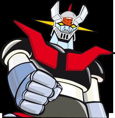 """TenVinilo. Adhesivo para portátil Mazinger. Espectacular pegatina para la parte trasera de tu ordenador de este famoso robot. Mazinguer Z y su famosa frase """"Puños Fuera""""."""