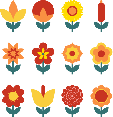TenStickers. Flowers Switch Sticker. Room Stickers - A floral design to add some life to your switch or socket.