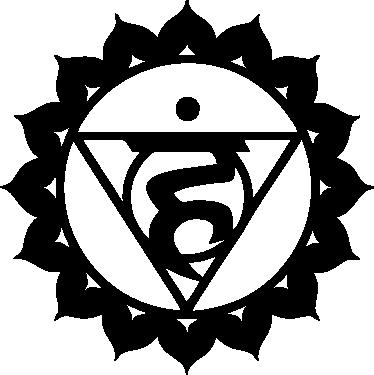 TENSTICKERS. ヴィスッダチャクラデカール. 純粋で透明なチャクラを表すvisuddha chakraウォールステッカー。